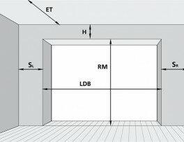 Секционные гаражные ворота промышленного типа