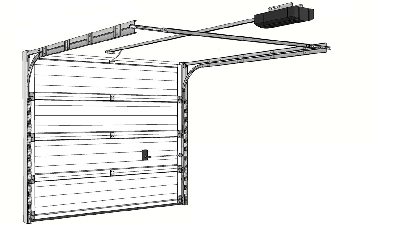 Как устроены секционные гаражные ворота